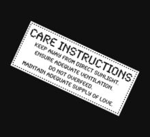 Care Instructions - Love, Funny by Ron Marton