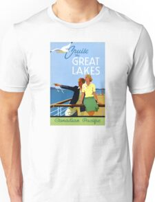 Cruise the Great Lakes Vintage Travel Poster Unisex T-Shirt