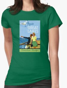 Cruise the Great Lakes Vintage Travel Poster T-Shirt