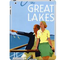Cruise the Great Lakes Vintage Travel Poster iPad Case/Skin