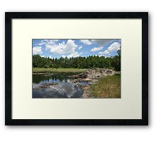 Beaver Lodge Lake Framed Print