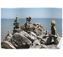 Rock Sculptures to the Lake Gods -1 Poster