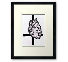 Satanic Heart Framed Print