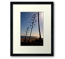 Santa Monica Silhouettes Framed Print