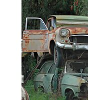 Double Decker Carpark | old car yard, Sthn NSW Photographic Print