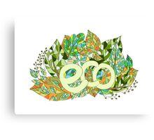 Eco concept label Canvas Print