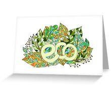 Eco concept label Greeting Card