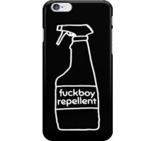 Fuckboy Repellent [White] iPhone Case/Skin