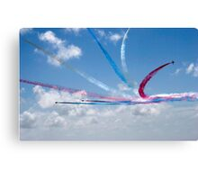 Red Arrows aerobatic display team Canvas Print