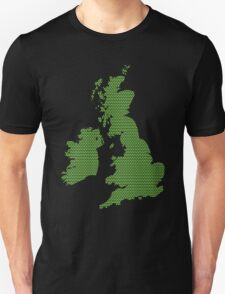 UK map made of green dots.  Unisex T-Shirt