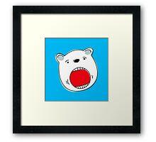 Face of a Polar Bear Framed Print