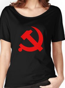 Chinese Communist Party Hammer and Sickle Women's Relaxed Fit T-Shirt