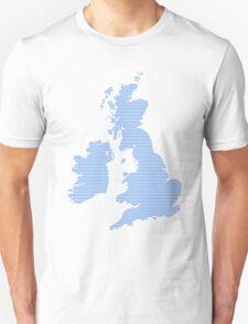 UK map made of blue dots. Unisex T-Shirt