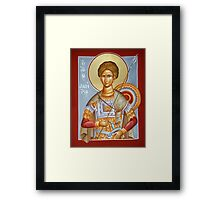 St Dimitrios the Myrrhstreamer Framed Print