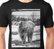 Highland Cow In The Snow 2 Unisex T-Shirt