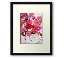romantic pink roses Framed Print