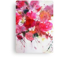 romantic pink roses Canvas Print