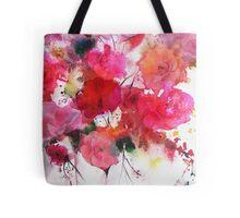 romantic pink roses Tote Bag