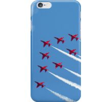 Red Arrows jets flying in formation iPhone Case/Skin