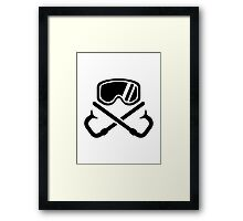 Crossed snorkles goggles Framed Print
