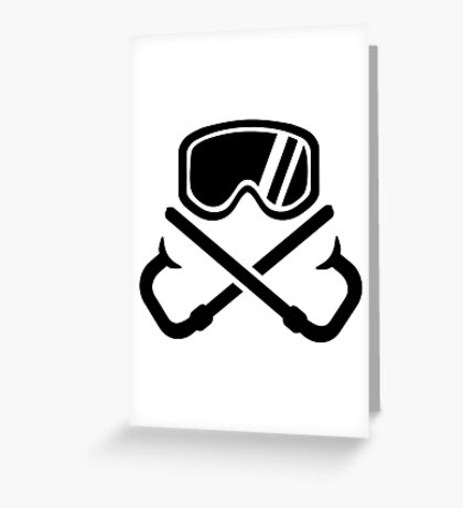 Crossed snorkles goggles Greeting Card