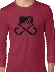 Crossed snorkles goggles Long Sleeve T-Shirt