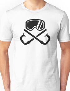 Crossed snorkles goggles Unisex T-Shirt