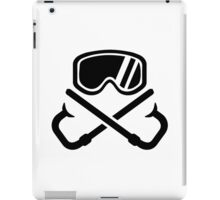 Crossed snorkles goggles iPad Case/Skin