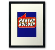 Master Builder, Bubble-Tees.com Framed Print