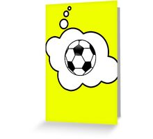 Soccer Ball by Bubble-Tees.com Greeting Card