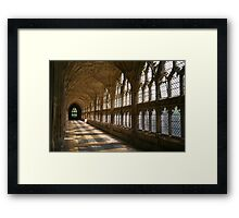 Cloister Shadows, Gloucester Cathedral Framed Print