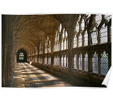 Cloister Shadows, Gloucester Cathedral Poster