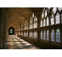 Cloister Shadows, Gloucester Cathedral Photographic Print
