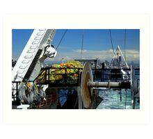 Departure ~ Seattle WA ~ Commercial Fishing Vessel Art Print