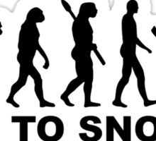 Evolution born to snorkel Sticker