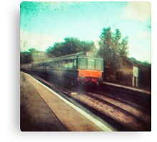 Vintage Train Canvas Print