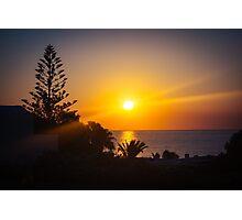 Monolithos Sunrise Photographic Print