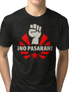 No Pasaran Fist & Star Tri-blend T-Shirt