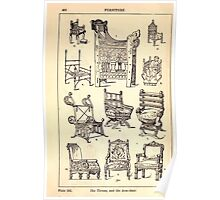 A Handbook Of Ornament With Three Hundred Plates Franz Sales Meyer 1896 0446 Furniture Throne Arm Chair Poster