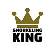 Snorkeling king Photographic Print
