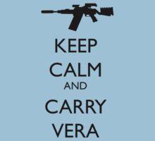 Keep Calm and Carry Vera - black text T-Shirt