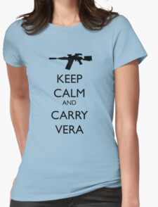 Keep Calm and Carry Vera - black text Womens Fitted T-Shirt
