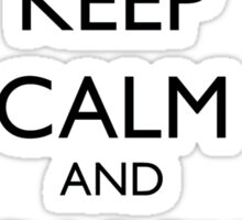 Keep Calm and Carry Vera - black text Sticker