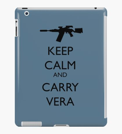 Keep Calm and Carry Vera - black text iPad Case/Skin