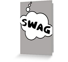 SWAG by Bubble-Tees.com Greeting Card