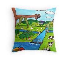 Goulburn-Murray Water Throw Pillow