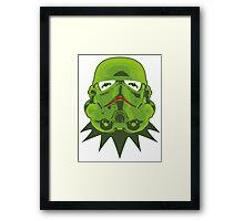 Kermitroopers stencil art Framed Print