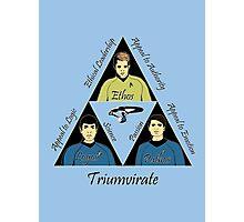Star Trek Triumvirate - Black Text for Light shirts Photographic Print