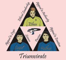 Star Trek Triumvirate - Black Text for Light shirts One Piece - Short Sleeve