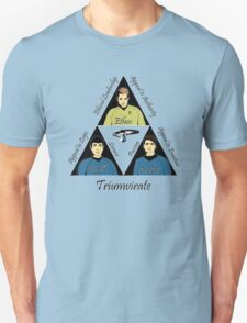 Star Trek Triumvirate - Black Text for Light shirts T-Shirt